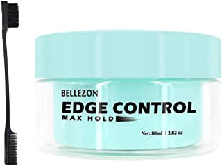UniForU Edge Control Gel 24-Hour Edge Tamer Hair Styling Gels Strong Hold Water-Based Pomade With Hair Brush Comb - 2.82oz
