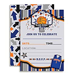 basketball party fill in invitations - Basketball Party Invitations