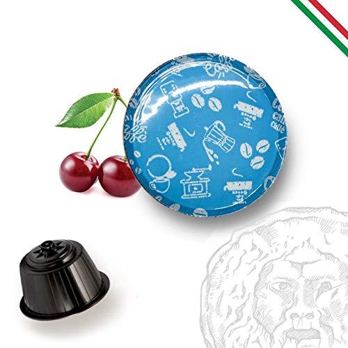 BOCCA DELLA VERITA Café Italiano - Paquete de 100 Cápsulas - Sabor DESCAFEINADO, Compatible con Cafetera Dolce Gusto, 100% Made in Italy