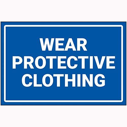 Preisvergleich Produktbild V Safety 72121BF-P VSafety Wear Protective Clothing Sign 400 mm x 300 mm Polycarbonat,  blau