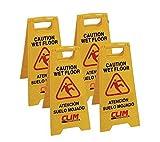 Señal de advertencia de pavimento mojado Clim Profesional. Pack 4 uds