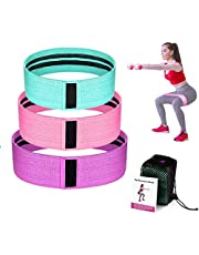 Womdee Resistance Bands for Legs and Butt,Exercise Bands Hip Bands Wide Booty Bands Workout Bands Sports Fitness Bands Stretch Resistance Loops Band Anti Slip Elastic