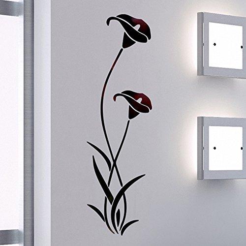 JiaMeng Pegatina de Pared, Elegante Hoja desprendible 3D Love Etiqueta de la Pared calcomanías de Vinilo de Arte decoración del Dormitorio (Multicolor 9, tamaño Libre)