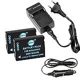 DSTE 2-pack Rechange Batterie et DC57E Voyage Chargeur pour Panasonic DMW-BCG10 Lumix DMC-ZS1 DMC-ZS3 DMC-ZS5 DMC-ZS6 DMC-ZS7 DMC-ZS8 DMC-ZS9 DMC-ZS10 DMC-ZS15 DMC-ZS19 DMC-ZS20 DMC-ZS25 DMC-ZX1