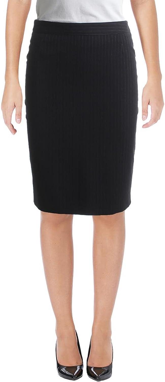 Hugo Boss BOSS Womens Textured Striped Pencil Skirt