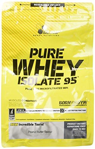 Olimp Sport Nutrition Pure Whey Isolate 95, Burro di arachidi - 600 gr