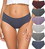 Altheanray womens underwear seamless cotton briefs panties for women 6 pack(3028M,Line 4)