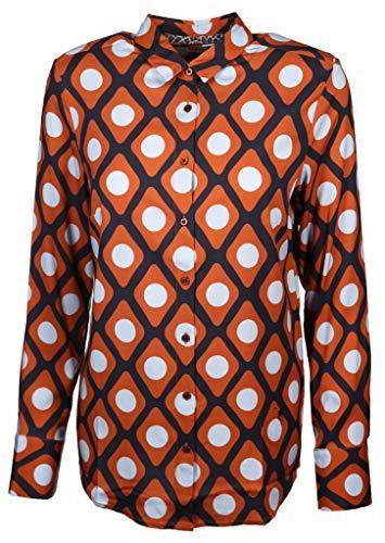 Emily van den Bergh Damen Bluse Größe 44 EU Orange (orange)