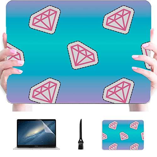 Macbook Pro 15 Cubierta Brillante Brillante Joyas de Diamantes Rico plástico Carcasa Dura Compatible Mac Air 13