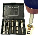 Juego de 5 extractores de tornillos de alta calidad, quitar tornillos rotos con juego de extractores de pernos y kit de extractor de tornillos
