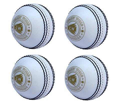 CW Set von 4Spin Poly Weich-PVC-alle weißen Sports Cricket Ball für allgemeine Training & Praxis, Coaching