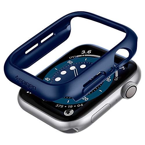 【Spigen】 Apple Watch ケース 40mm 【 Series SE/Series 6 / Series 5 / series 4 対応 】 落下 衝撃 吸収 簡易着脱 超薄型 シンプル スリム 軽量 保護カバー アップルウォッチケース シン・フィット ACS02226 (ブルー)