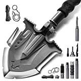Zune Lotoo Annihilate Tactical Shovel Camping(F-A3),6 Shifts with One Button Military Multifunctional Shovel,Folding Survival Shovel Multitool(24.4 Inch)