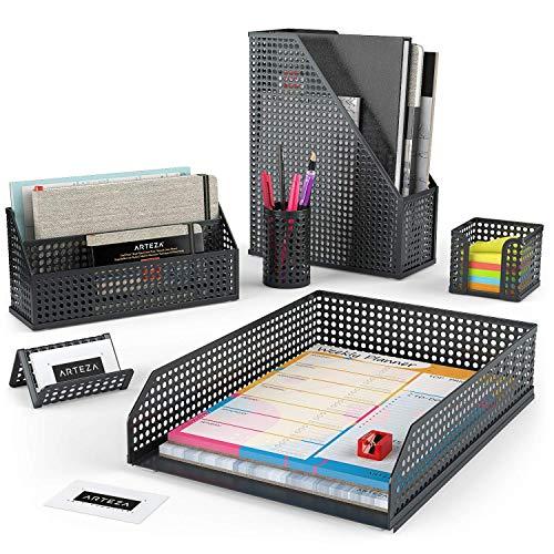 Arteza Organizadores de escritorio en color negro | 6 acceso