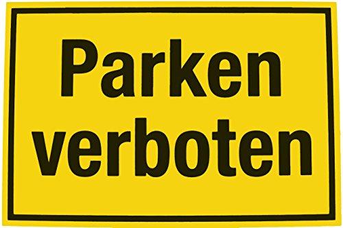 Alpertec 48071440 Schild Parken verboten gelb-schwarz
