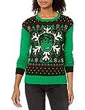 Marvel Women's Ugly Christmas Sweater, Hulk/Green, X-Large