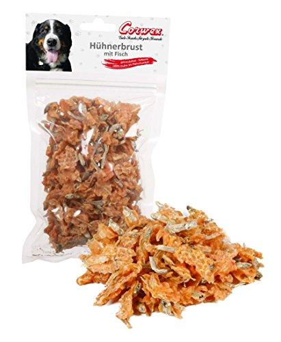 Corwex Hundesnack Hühnerbrust mit Fisch (6 x 250g)