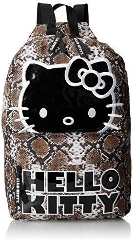 Hello Kitty sublimación serpiente marrón y blanco mochila 16