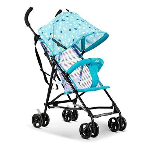 Carrito de bebe Carrito compacto ultraligero con un solo botón y carrito compacto, apto para 8 meses - 5 años de edad para bebés Cochecito/Silla Paseo (Color : Blue-b)