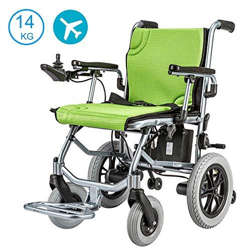 Nobuddy Silla de Ruedas eléctrica más Fuerte Batería de Litio de Cuatro Motores Solo 14KG Ancianos discapacitados Scooter Plegable portátil Marco de Aluminio