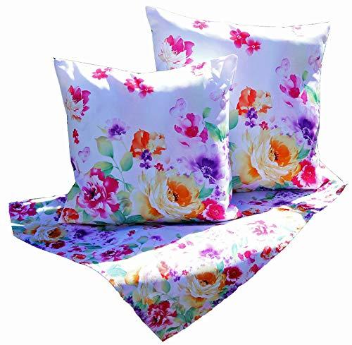 heimtexland ® Outdoor Kissen Lotus Effekt Garten Deko Sommer Wasserabweisend Blumen Kissenhülle 48x48 Typ640