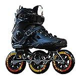 Patines de Rodillos de Aptitud al Aire Libre Unisex □ Patines en línea de Adultos Mujeres Zapatos Patines (Color : Black, Size : 36EU)