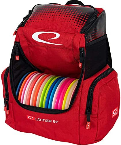 Latitude 64 Red Core Pro Disc Golf Backpack 18 Disc Capacity Putter Pockets and Extra Storage product image