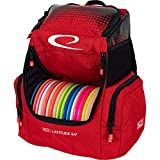 Latitude 64 Red Core Pro Disc Golf Backpack | 18+ Disc Capacity | Putter Pockets and Extra Storage Pockets | Padded Straps and Back Panel | Frisbee Golf Backpack Bag