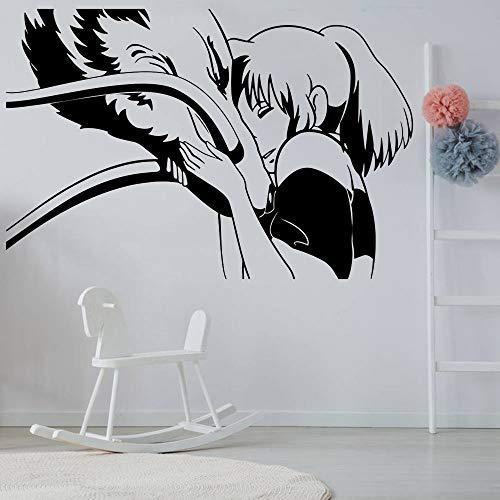 yaofale Cartoon Wandaufkleber Anime Manga Mädchen Vinyl Wandtattoo Mädchen Kinderzimmer Hauptdekoration