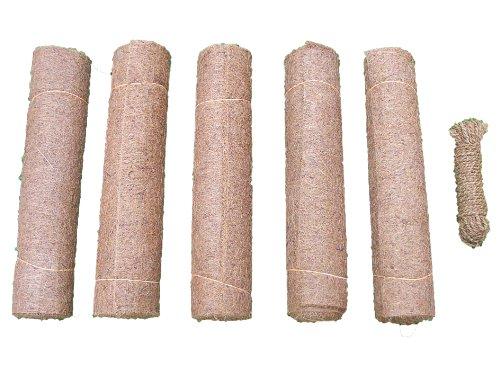 Tapis de protection contre les mauvaises herbes en fibres de noix de coco, 5 x 150 x 50 cm épaisseur 10 mm et 15m de corde de coco gratuit (EUR 7,39 / piéce), tapis de protection hivernale