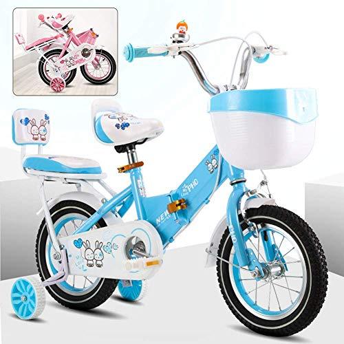 Plegable for niños bicicletas, bicicletas Niños Niñas, Niño de aprendizaje de bicicletas, 12 pulgadas, 14 pulgadas, 16 pulgadas, 18 pulgadas, bicicleta plegable con ruedas de entrenamiento y estabiliz