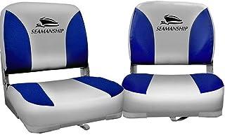 Seamanship 2X Folding Boat Seats Seat Marine Seating Set All Weather Swivels Chairs Boat Parts Fishing