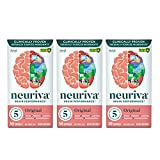 NEURIVA Original Brain Performance (30 count), Brain Support Supplement With Clinically Proven Natural Ingredients 1 ea (Pack of 3)