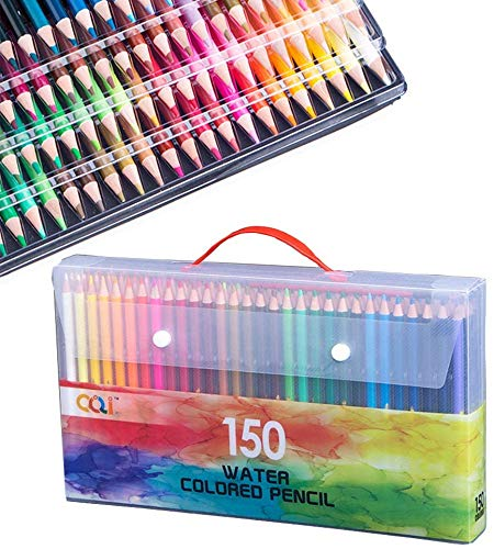 150 Watercolor Colored Pencils Set,Drawing,Sketching And Coloring Pencil For Artists Kids Adults, Smooth Color Cores And Vibrant Colors Coloring Pencils In A Portable Plastic Case (150 Color Pencils)