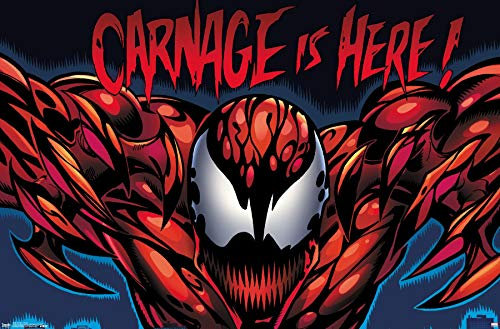 Trends International Marvel Comics - Carnage - Classic Wall Poster, 22.375' x 34', Unframed Version