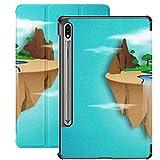 Funda para Galaxy Tab S7 Funda Delgada y Ligera con Soporte para Tableta Samsung Galaxy Tab S7 de 11 Pulgadas Sm-t870 Sm-t875 Sm-t878 2020 Release, Eco Environment Concept Idea Floating Island