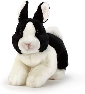 DEMDACO Dutch Bunny Large Black and White 11 Inch Plush Figure
