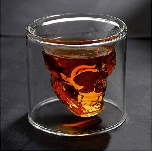 Sharemee - So Cool Crystal Skull Shot Copa de vino bebida Copa para un whisky 200ml/6.7oz