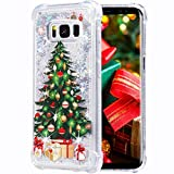 Flocute Galaxy S8 Plus Case, Galaxy S8 Plus Glitter Chrismas Case Bling Sparkle Floating Liquid Soft TPU Cushion Luxury Fashion Girly Women Cute Case for Samsung Galaxy S8 Plus (Christmas Tree)