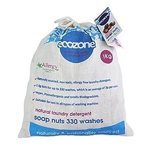 Ecozone – Nueces de jabon para lavar la ropa (bolsa de 1 kg, hasta 330 lavados)
