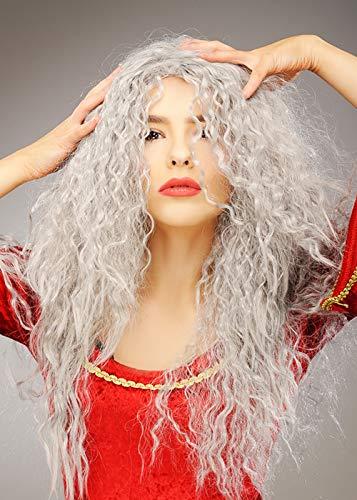 Magic Box Peluca Larga Gris para Mujer Gothel Style Mother