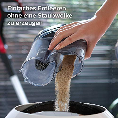 Philips XC7042/01 SpeedPro Max kabelloser Akku Staubsauger 7000 Series, 360°-Saugdüse, 65 Min. Akkulaufzeit, beutellos, inkl. Handstaubsauger, rot - 9