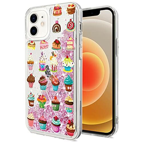 Mixroom - Custodia Cover Case per iPhone 6 con Brillantini Glitter in Gel Liquidi Quicksand Rosa Fantasia Mix di DOLCETTI Codice 411
