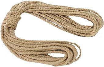 100% Natural Hemp Rope (5mm),10 Meters(32 ft) for Arts Crafts DIY Decoration