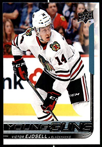 2018-19 Upper Deck #481 Victor Ejdsell RC Rookie Chicago Blackhawks Young Guns NHL Hockey Trading Card