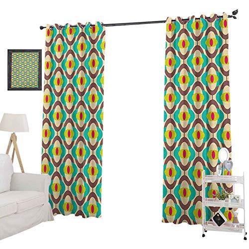 YUAZHOQI - Cortinas opacas para oscurecer la habitación (132 x 182 cm), diseño de Bauhaus