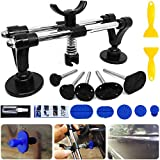 Manelord Auto Body Repair Tool Kit, Car Dent Puller with Double Pole Bridge Dent Puller, Glue Puller Tabs, Glue Shovel for Auto Dent Removal, Minor dents, Door Dings and Hail Damage
