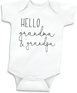 Hello Grandma and Grandpa Pregnancy Announcement Gifts