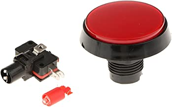 Blesiya 60mm Round Shaped LED Illuminated Push Buttons for Arcade Coin Machine Operated Games DIY, Red