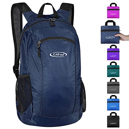 G4Free 25L Ultra Lightweight Packable Backpack for Men Women Kids Water Resistant Foldable Rucksack School Daypacks for Outdoor Sports Hiking Travel